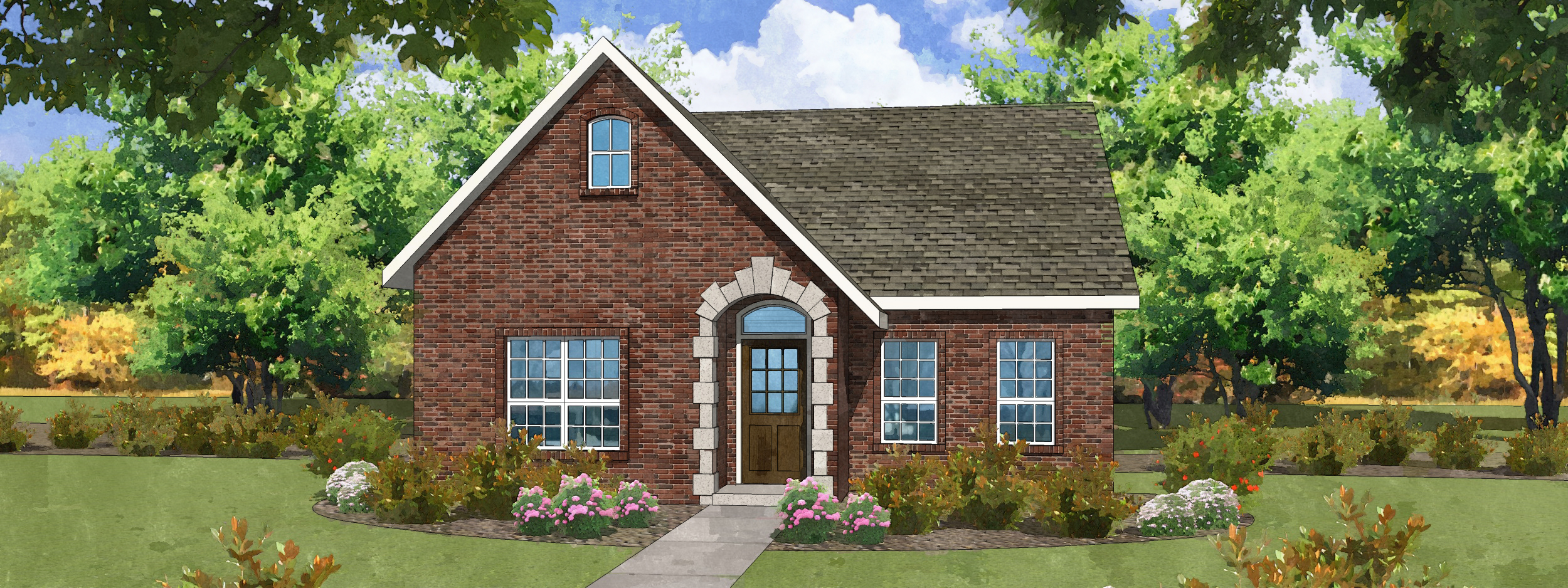 Tudor Revival Plan A With Game Room Varsity Villas Of